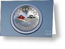 1959 Corvette Emblem Greeting Card