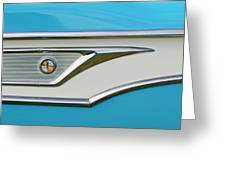 1959 Edsel Corvair Side Emblem Greeting Card