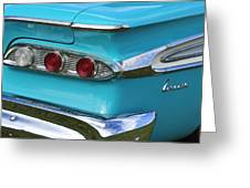 1959 Edsel Corvair Taillights Greeting Card