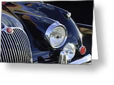 1959 Jaguar S Roadster Headlights Greeting Card