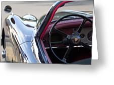 1959 Jaguar S Roadster Steering Wheel 2 Greeting Card