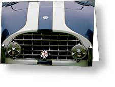 1960 Ac Ace Roadster Grille Emblem Greeting Card