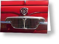 1960 Autobianchi Bianchina Transformabile Coupe Hood Emblem Greeting Card