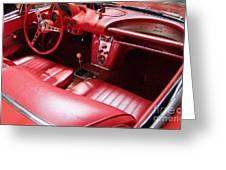 1960 Chevrolet Corvette Interior Greeting Card
