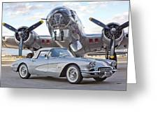 1960 Chevrolet Corvette Greeting Card