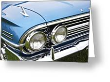 1960 Chevrolet Impala Front End Greeting Card