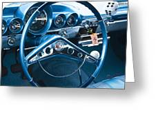 1960 Chevrolet Impala Steering Wheel Greeting Card