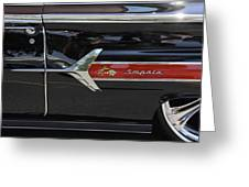1960 Chevy Impala Greeting Card