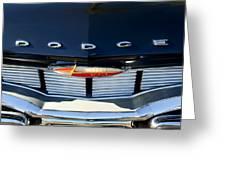 1960 Dodge Grille Emblem Greeting Card