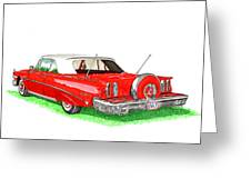 1960 Edsel Ranger Continental Kit Greeting Card