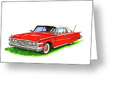 1960 Edsel Ranger Convertible Greeting Card