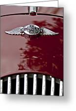 1960 Morgan Plus Four Drophead Coupe Hood Emblem Greeting Card