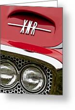 1960 Plymouth Xnr Ghia Roadster Grille Emblem Greeting Card