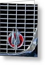 1960 Studebaker Hawk Coupe Emblem Greeting Card