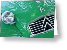 1961 Citroen 2cv Landaulet Hood Emblem Greeting Card