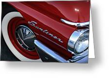 1961 Ford Galaxie Sunliner Convertible Greeting Card