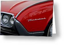 1961 Ford Thunderbird Headlight Emblem Greeting Card