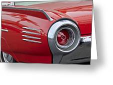 1961 Ford Thunderbird Taillight Greeting Card