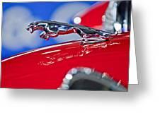 1961 Jaguar Kougar Hood Ornament 2 Greeting Card