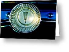 1961 Pontiac Catalina Steering Wheel Emblem Greeting Card