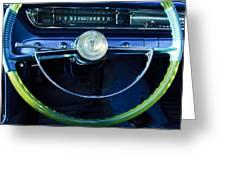 1961 Pontiac Catalina Steering Wheel  Greeting Card