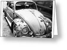 1961 Volkswagon Beetle Greeting Card