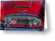 1962 Austin-healey 3000 Mkii Grille Greeting Card