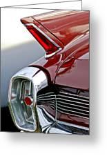 1962 Cadillac Eldorado Taillight Greeting Card