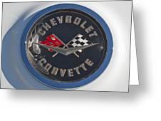 1962 Chevrolet Corvette Emblem 4 Greeting Card