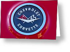 1962 Chevrolet Corvette Emblem Greeting Card