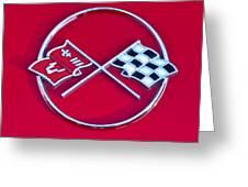 1962 Chevrolet Corvette Hood Emblem 2 Greeting Card
