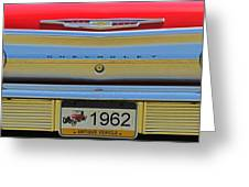 1962 Chevy Impala Ss Greeting Card