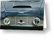 1963 Aston Martin Db4 Series V Vantage Gt Grille Greeting Card by Jill Reger
