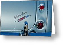 1963 Austin-healey Taillight Greeting Card