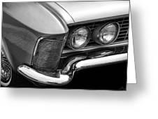 1963 Buick Riviera B/w Greeting Card