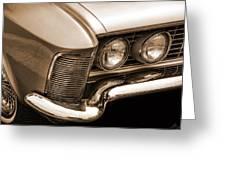 1963 Buick Riviera Sepia Greeting Card
