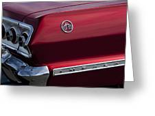 1963 Chevrolet Impala Ss Taillight Greeting Card