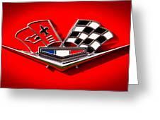 1963 Chevy Corvette Emblem Greeting Card