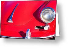 1963 Red Porsche Greeting Card