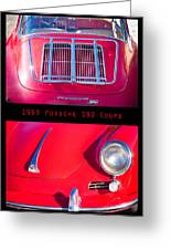 1963 Red Porsche S90 Coupe Poster Greeting Card