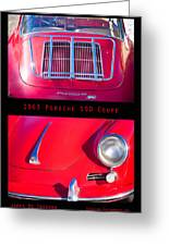 1963 Red Porsche S90 Coupe Poster S Greeting Card