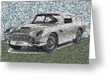1964 Aston Martin Mosaic Greeting Card