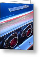 1964 Chevrolet Impala Ss Taillight Greeting Card
