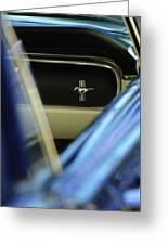 1964 Ford Mustang Emblem Greeting Card