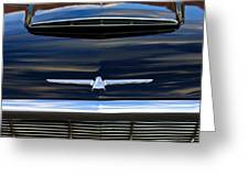 1964 Ford Thunderbird Hood Emblem Greeting Card