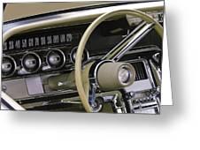 1964 Ford Thunderbird Steering Wheel Greeting Card