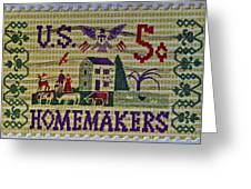 1964 Homemakers Five Cent Stamp Greeting Card