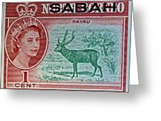 1964 North Borneo Sabah Stamp Greeting Card