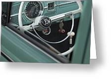 1964 Volkswagen Vw Steering Wheel 2 Greeting Card