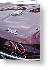 1965 Chevrolet Corvette Tail Light Greeting Card